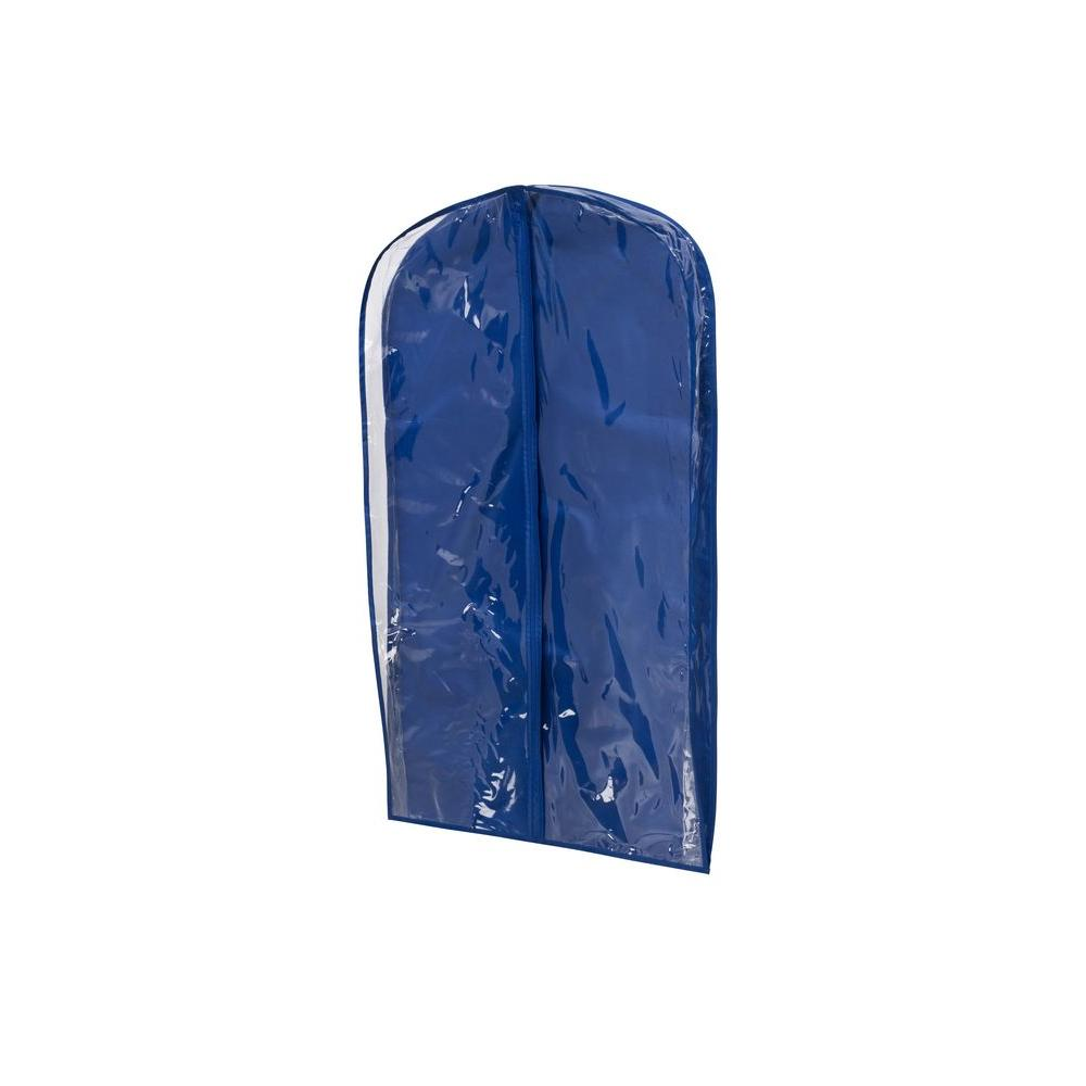 Honey-Can-Do Navy Polyester and Clear Vinyl Suit Bag (2-Pack)