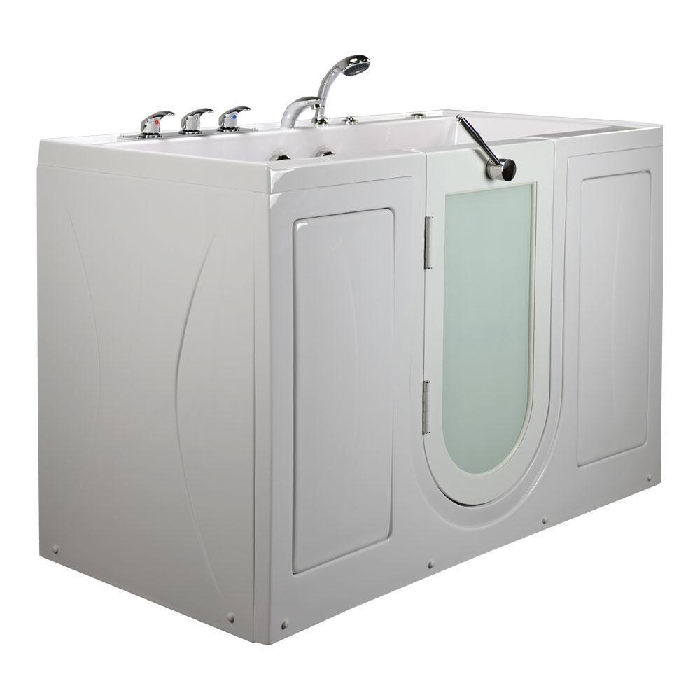 Ella 5 ft. Tub4Two 2 Seat Acrylic Walk-In Whirlpool Bathtub in White ...