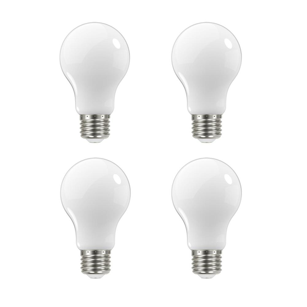 Ecosmart 60 Watt Equivalent A19 Dimmable Energy Star Frosted Filament Led Light Bulb Soft White 4 Pack