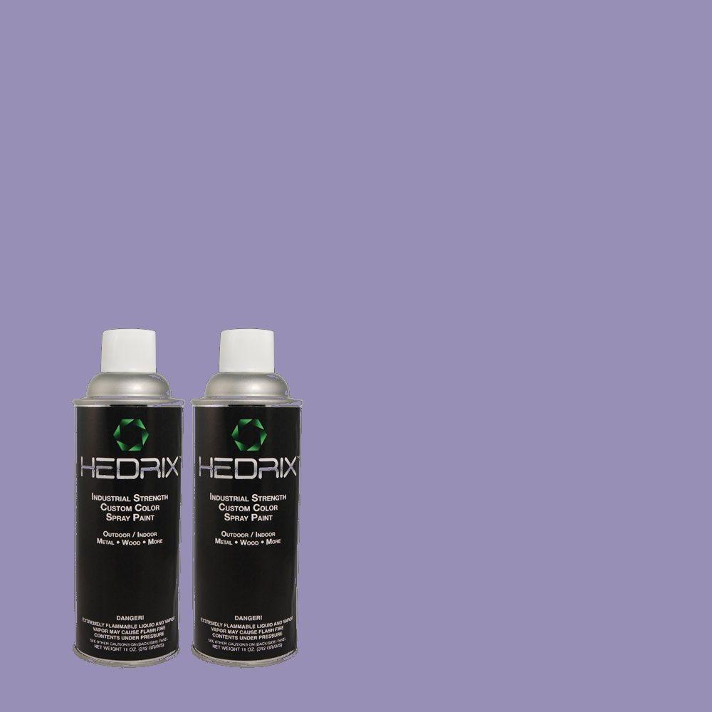 Hedrix 11 oz. Match of 620B-5 Pristine Petal Semi-Gloss Custom Spray Paint (2-Pack)