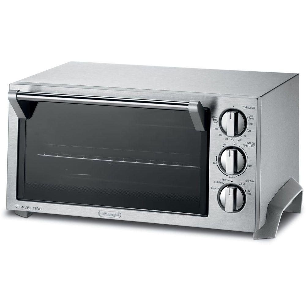 Delonghi Stainless Steel Toaster Oven Eo1270 The Home Depot