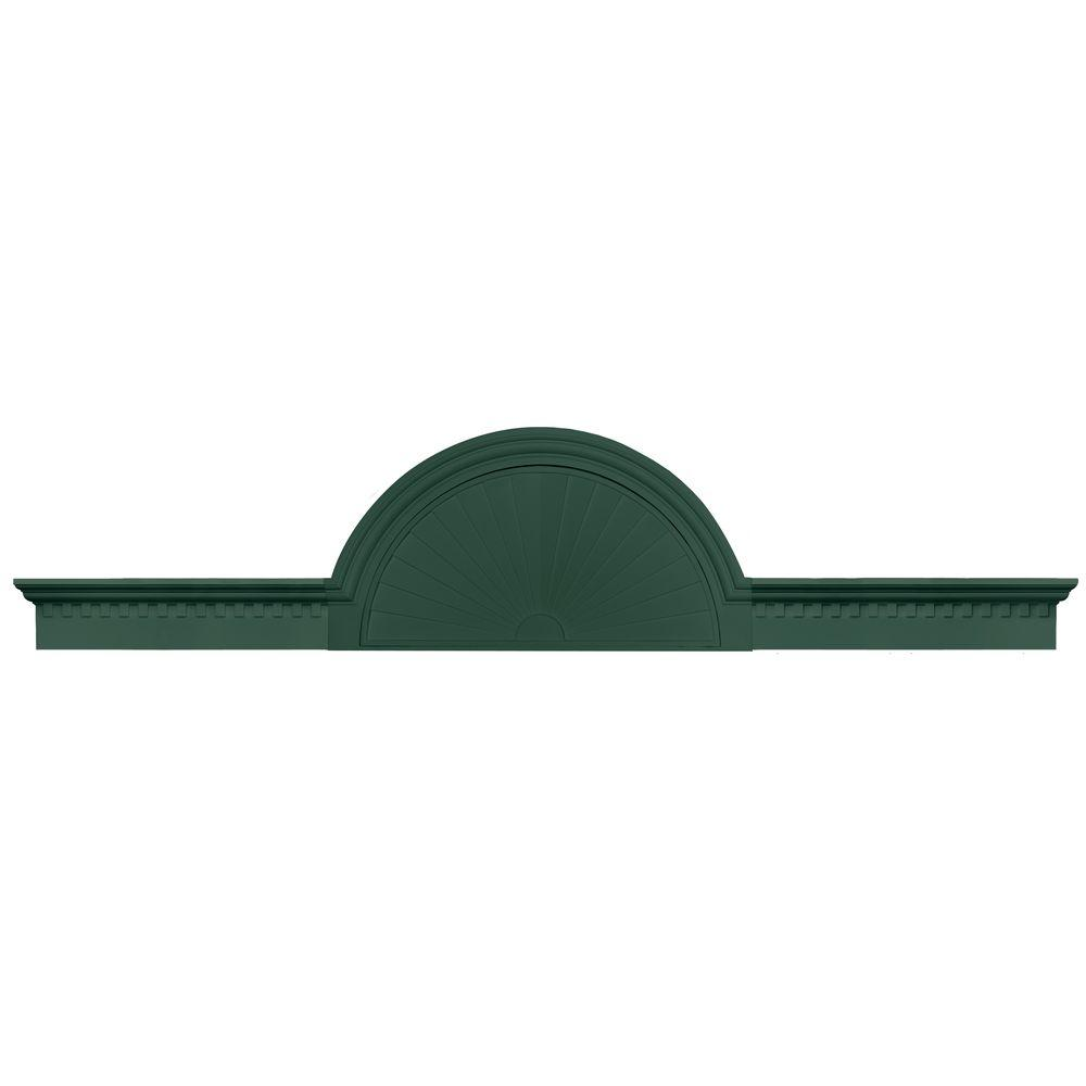 Builders Edge 70 in. - 106 in. Classic Dentil Panel Window and Door Accent in 028 Forest Green-DISCONTINUED