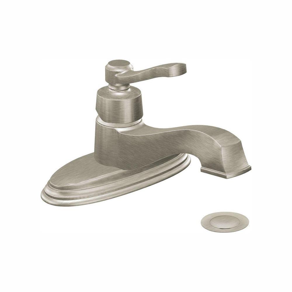 MOEN Rothbury Single Hole Single-Handle Low-Arc Bathroom Lavatory Faucet in Brushed Nickel