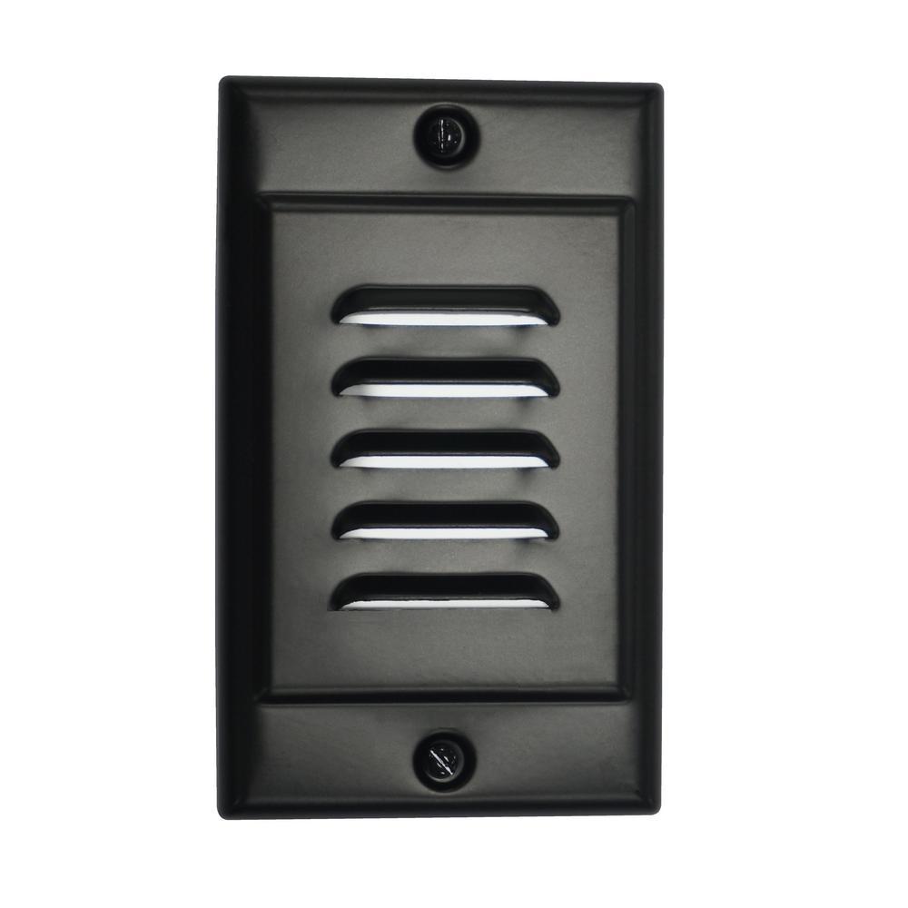 STP Series Hardwire Vertical Black LED Stair Light