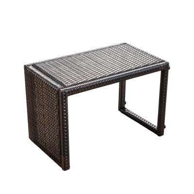 Abel Brown C-Shaped PE Outdoor Accent Table