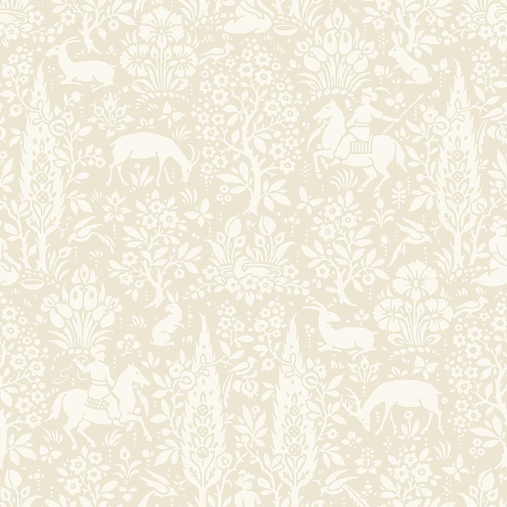 56.4 sq. ft. Sherwood Cream Woodland Wallpaper