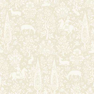 56.4 sq. ft. Sherwood Cream Woodland Wallpaper