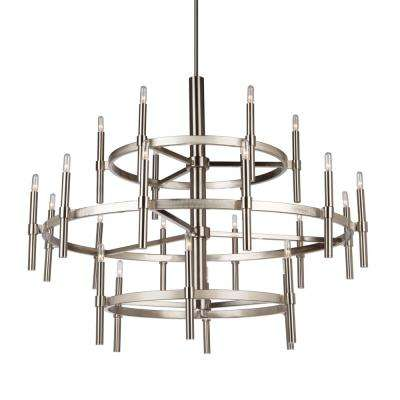 Encore 24-Light Polished Nickel Chandelier