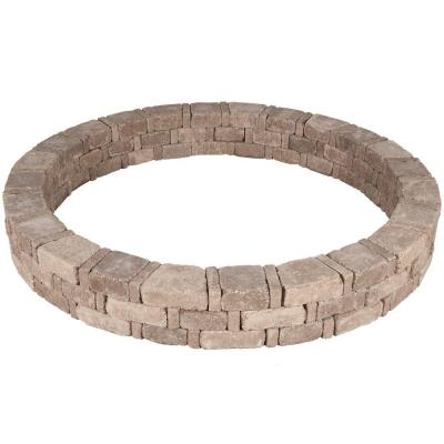 Rumblestone 79.3 in. x 10.5 in. Concrete Tree Ring Kit in Cafe