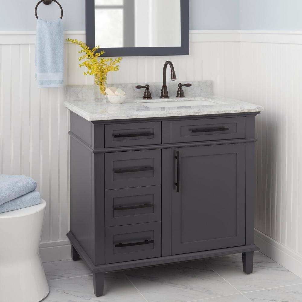 Mandouri 8 in. Widespread 2-Handle LED High-Arc Bathroom Faucet in Bronze