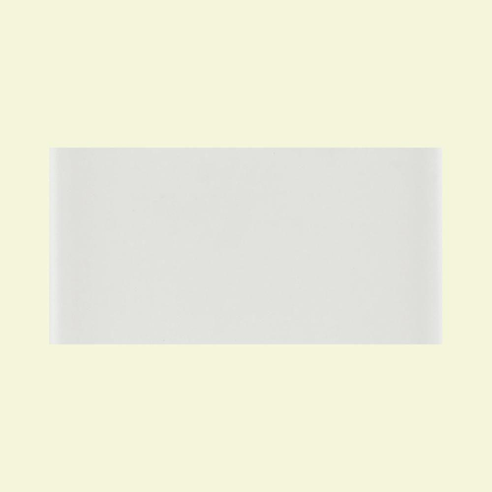 Daltile Glass Reflections 3 in. x 6 in. White Ice Glass Wall Tile (4 sq. ft. / case)-DISCONTINUED