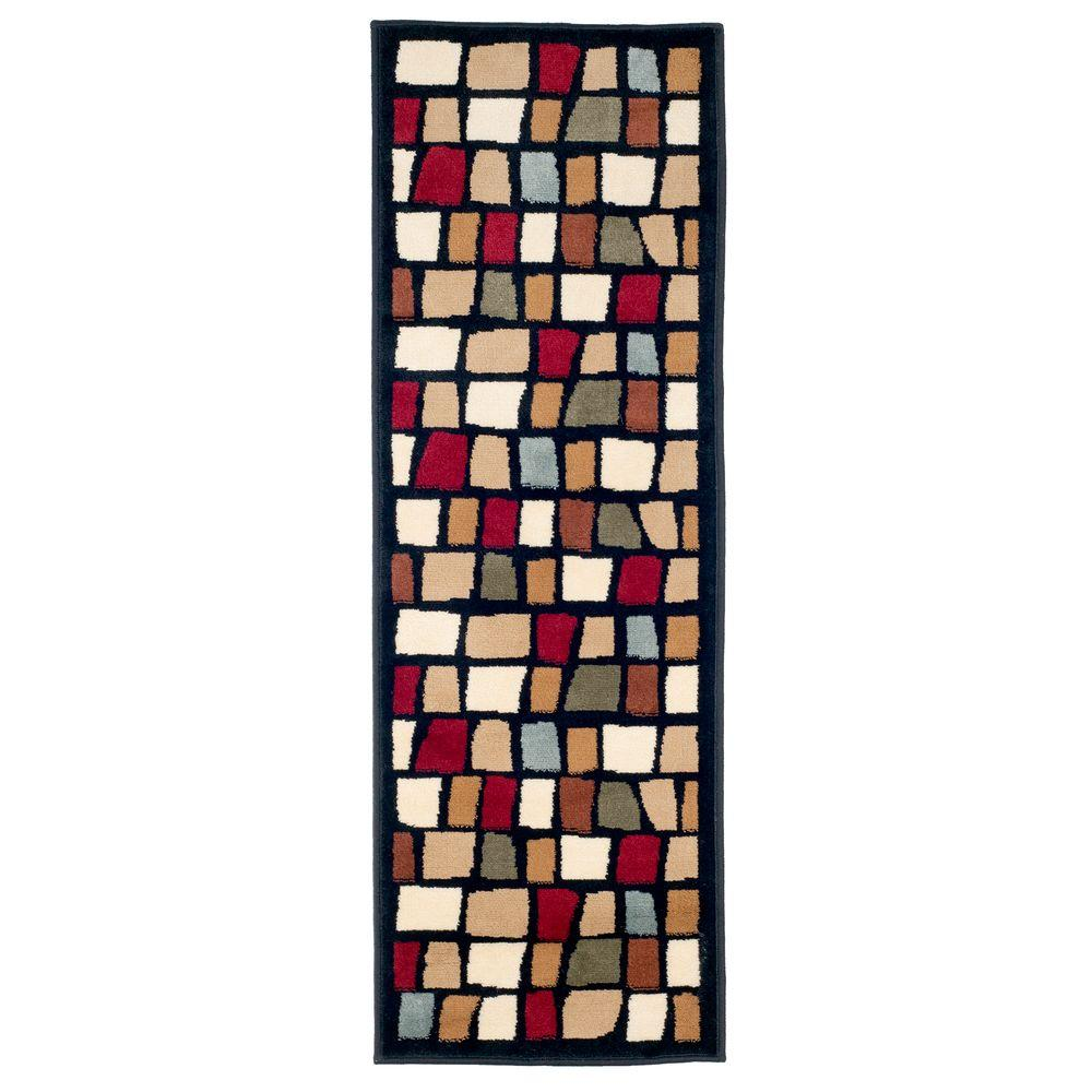 Color Blocks Black 1 ft. 8 in. x 5 ft. Rug