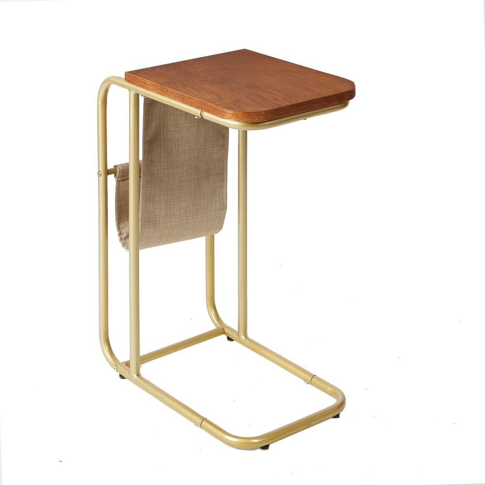 Silverwood Furniture Reimagined Rex Brown And Gold Magazine Holder C Table