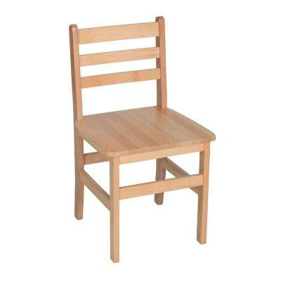 Atlas Natural Wood Classroom Chair with 18 in. Seat Height