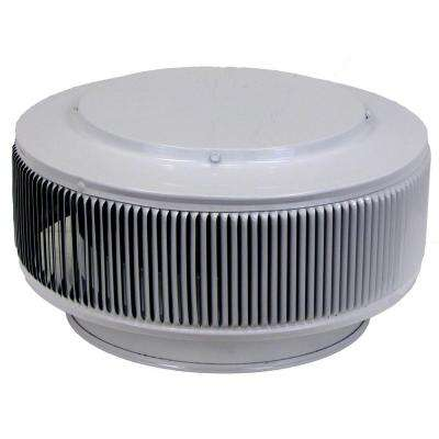 Aura PVC Vent Cap 10 in. Dia Exhaust Vent with Adapter to Fit Over 10 in. PVC Pipe in White Powder Coat