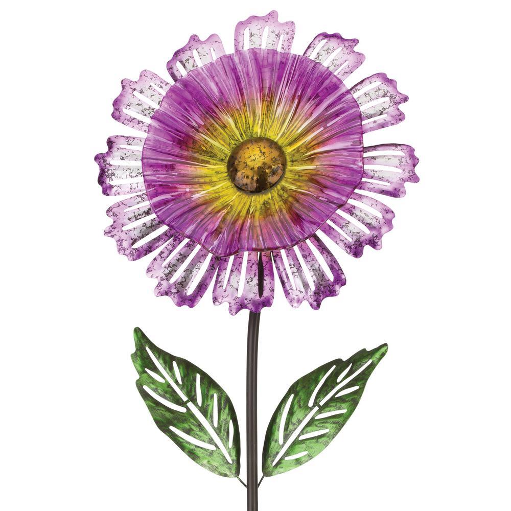 53 in. Cosmo Garden Flower Stake Purple