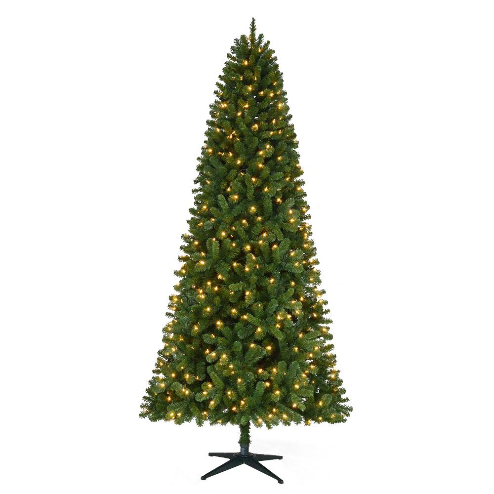 Home Accents Holiday 9 Ft Pre Lit Led Grand Duchess Slim Pine Artificial Christmas Tree With 450 Warm White Lights
