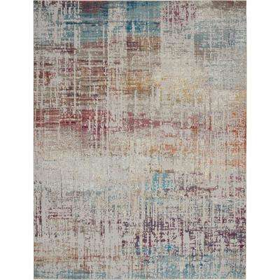 Entice Distressed Grey/Multi-Color 8 ft. x 10 ft. Area Rug