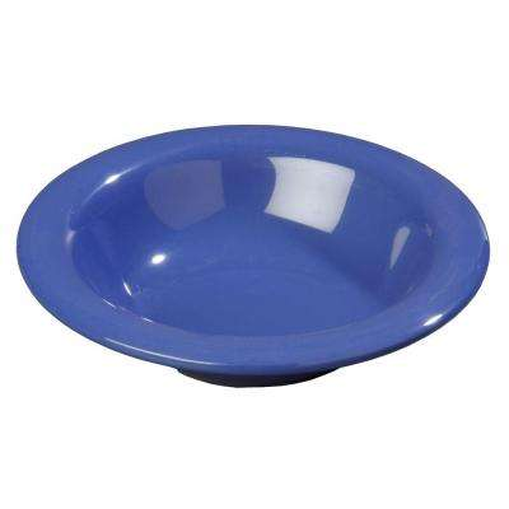 6 oz., 6 in. Diameter Melamine Rimmed Bowl in Ocean Blue (Case of 48)