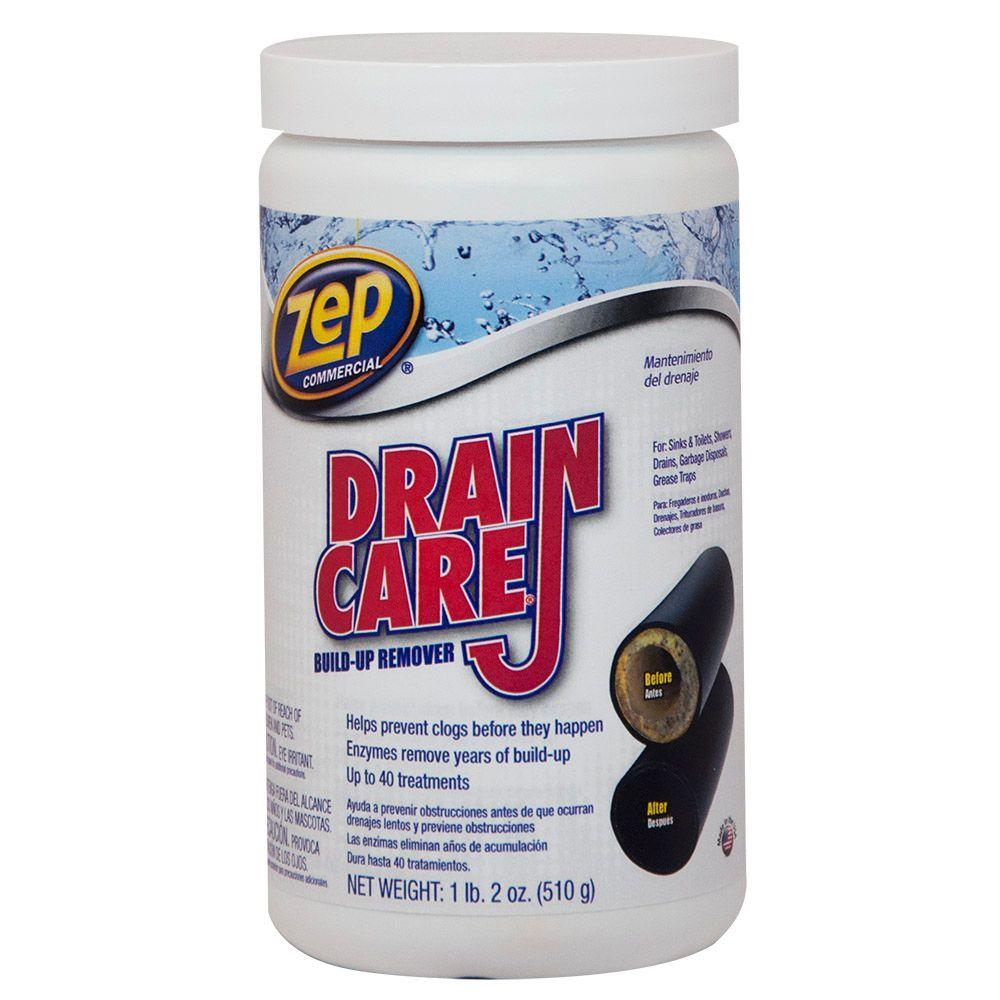 drain care build up remover zdc16 the home depot - Drain Pipe Cleaner