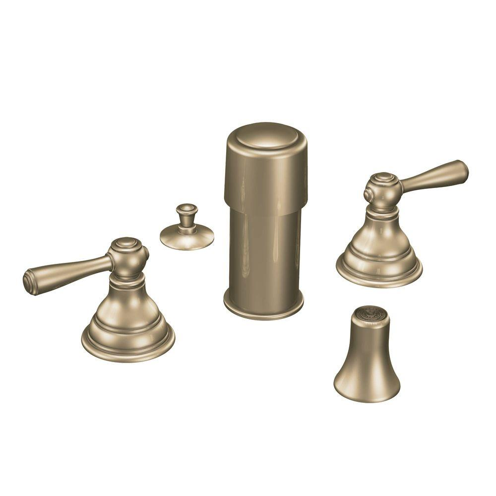 MOEN Kingsley 2-Handle Bidet Faucet Trim Kit in Antique Bronze