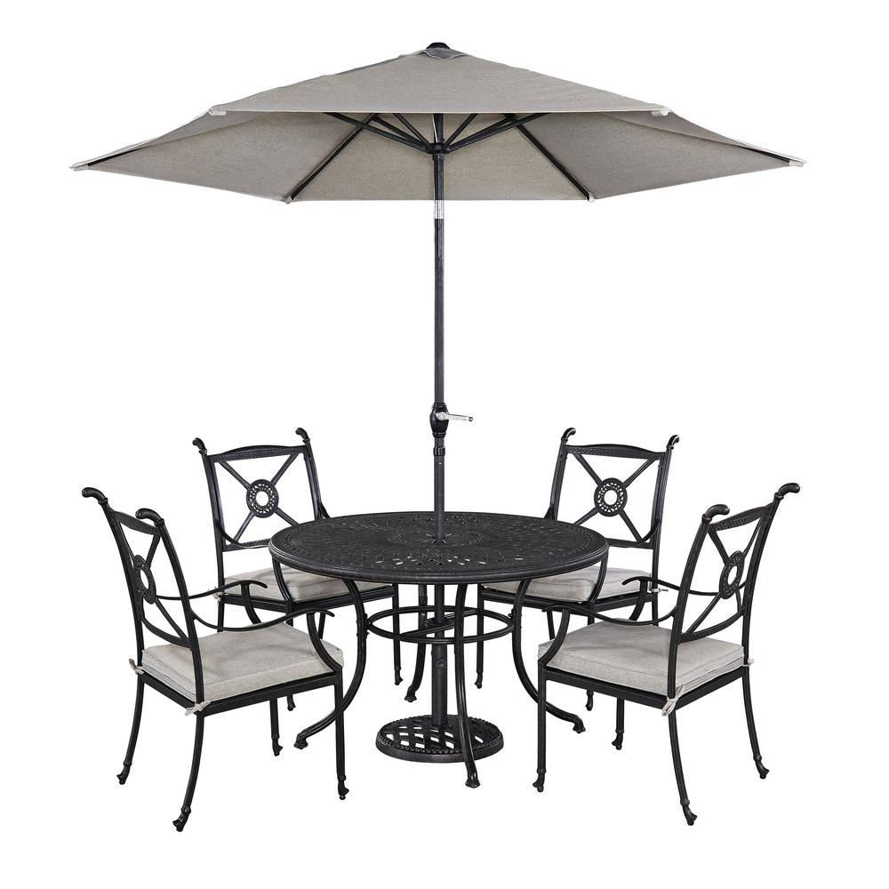 Athens 5-Piece Patio Dining Set with Umbrella
