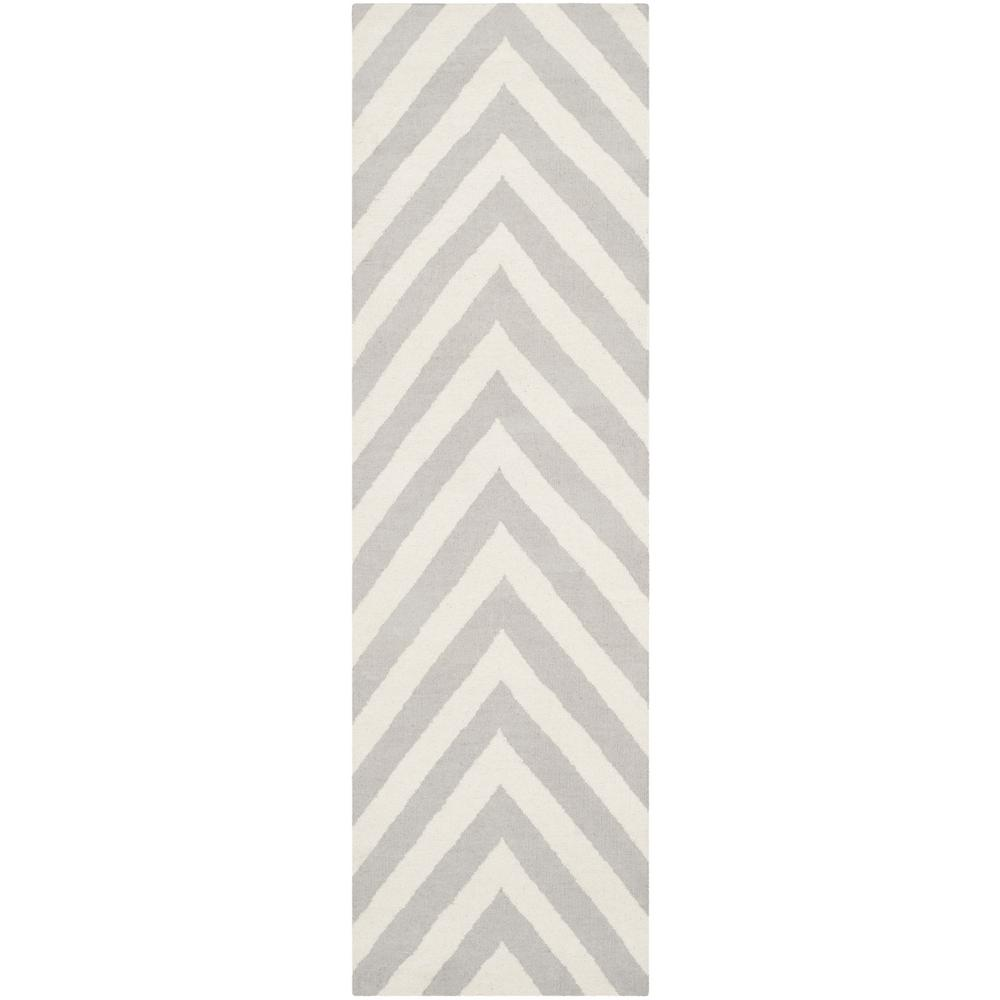 Safavieh Dhurries Gray/Ivory 3 ft. x 8 ft. Runner Rug
