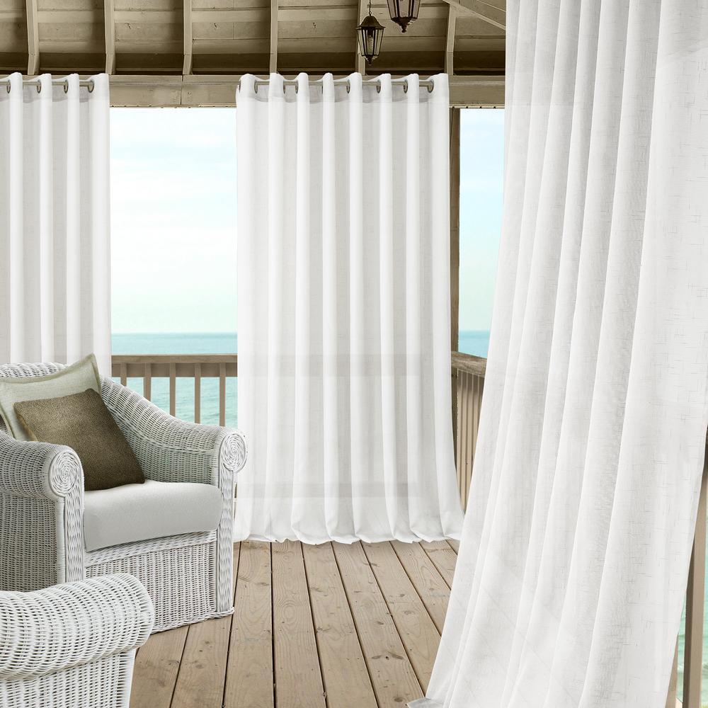 Elrene Carmen Extra Wide Indoor/Outdoor Sheer Window Curtain