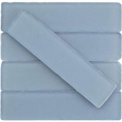 Ocean Cloud Beached Frosted Glass Subway Tile - 2 in. x 8 in. Tile Sample