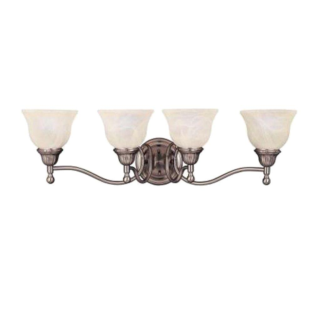Maxim Lighting Soho 4-Light Satin Nickel Bath Vanity Light