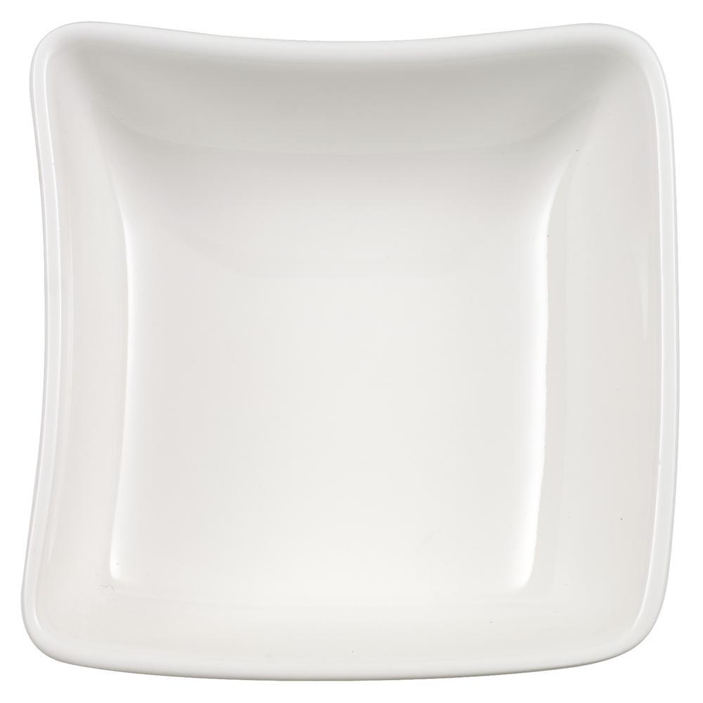 New Wave White Porcelain Dip Bowl