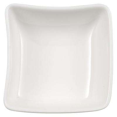 New Wave White Porcelain Dip Bowl