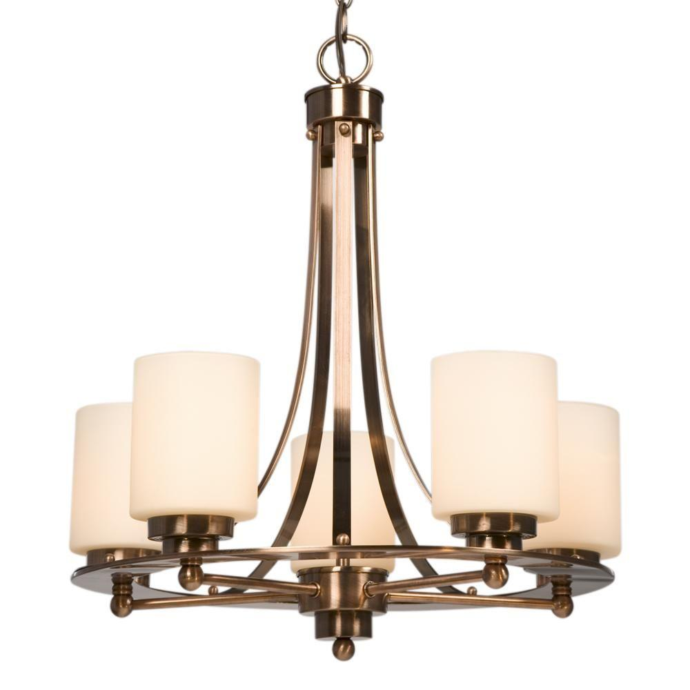 Filament Design Negron 5-Light Antique Copper Patina Incandescent Chandelier - Filament Design Negron 5-Light Antique Copper Patina Incandescent