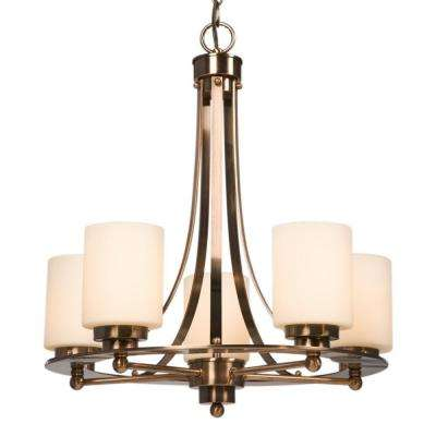 Negron 5-Light Antique Copper Patina Incandescent Chandelier