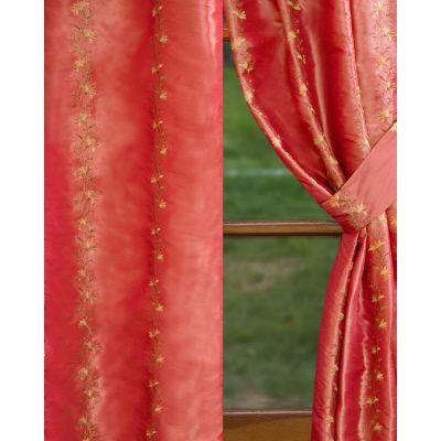 Home Decorators Collection Semi-Opaque Burnt Orange Imperial Rod Pocket Panel - in. W x 84 in. L