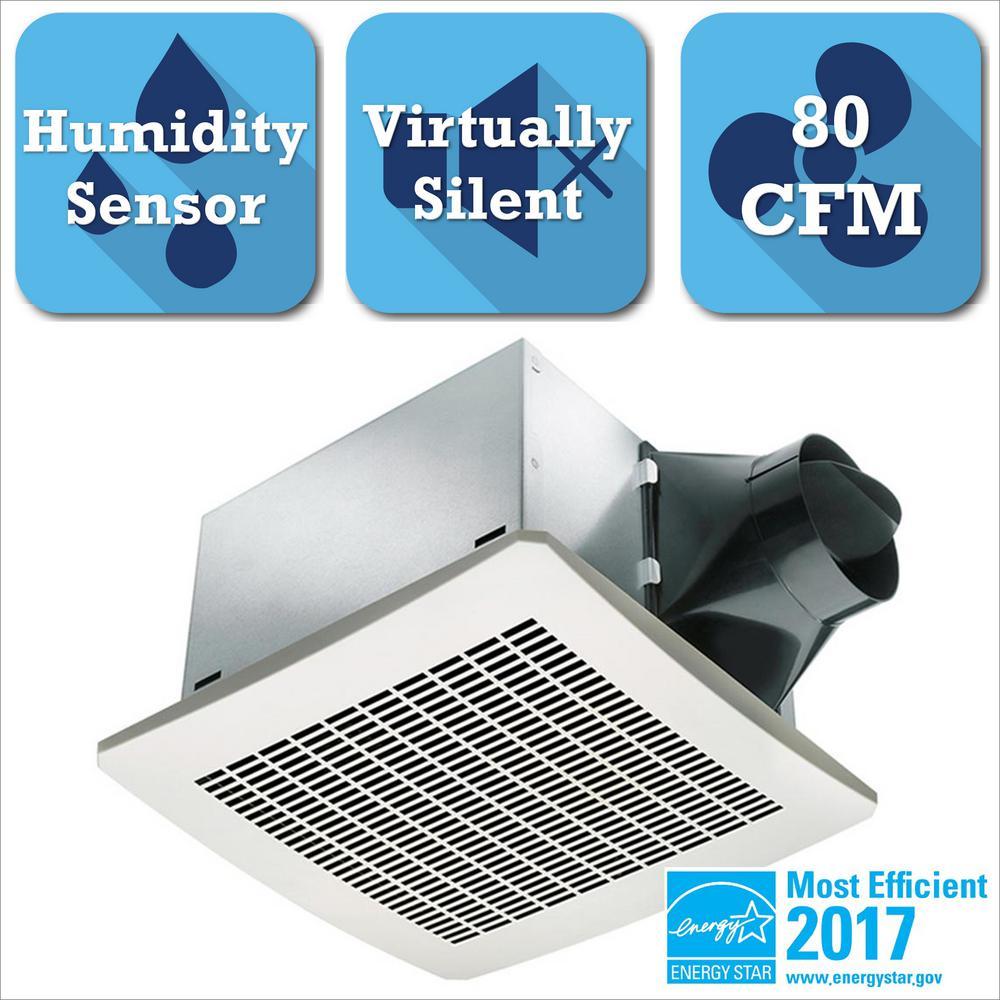 Delta Breez Signature Series 80 CFM Humidity Sensing Ceiling Exhaust Bath Fan