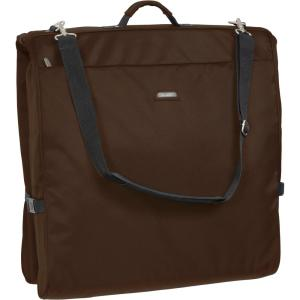 Wallybags 45 In Framed Garment Bag With Shoulder Strap And Multiple Accessory Pockets Brown 1910 The Home Depot