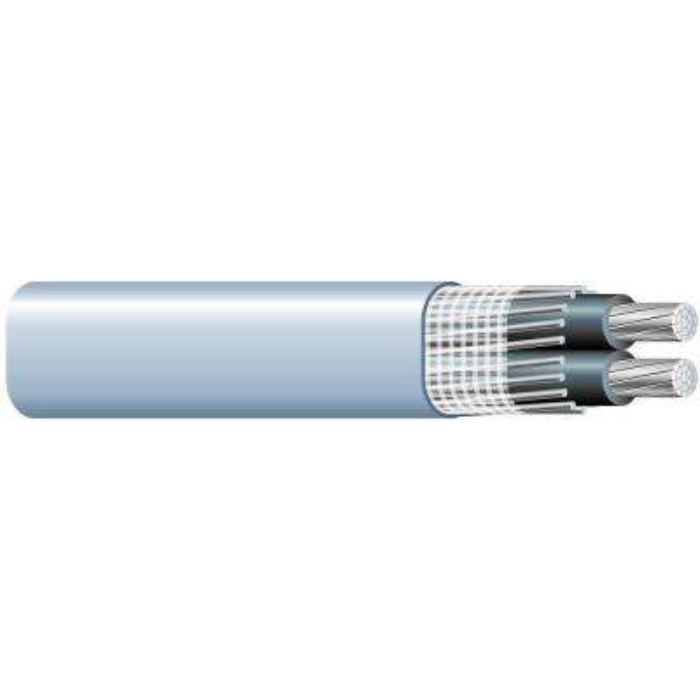 200 ft. 2-2-2 Gray Stranded AL SEU Cable