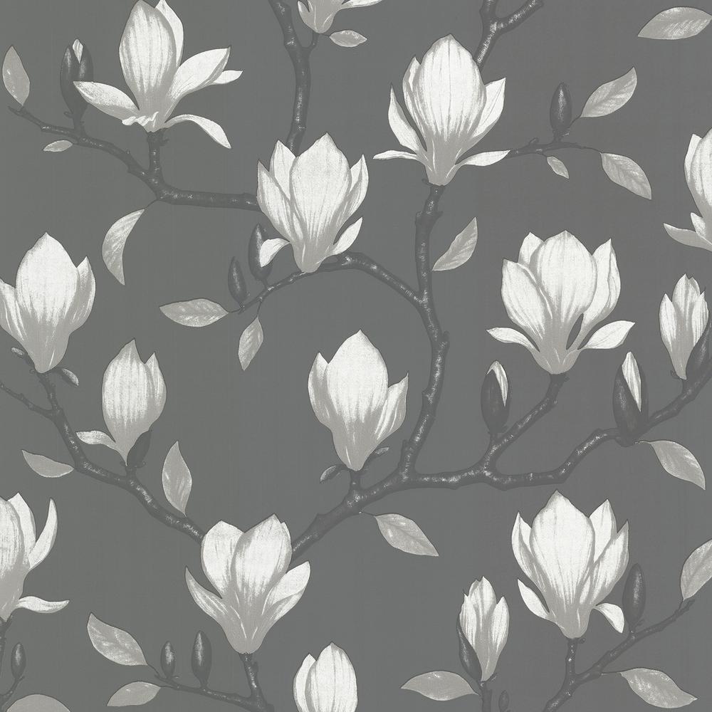 Grandiflora Charcoal Magnolia Wallpaper by