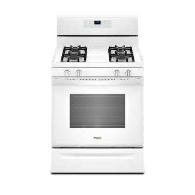 5.0 cu. ft. Freestanding Gas Range with Adjustable Self-Cleaning in White