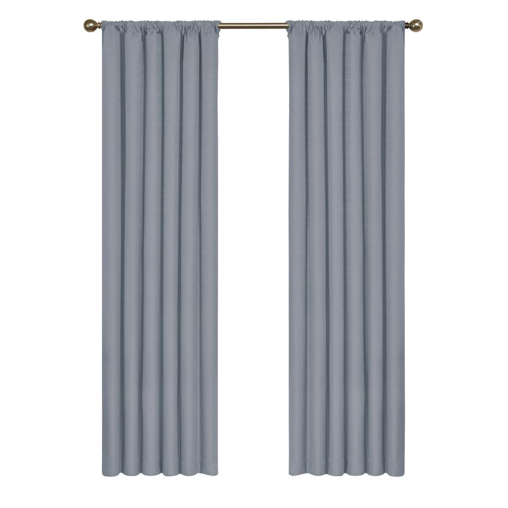 Kendall Blackout Window Curtain Panel in Slate - 42 in. W x 95 in. L