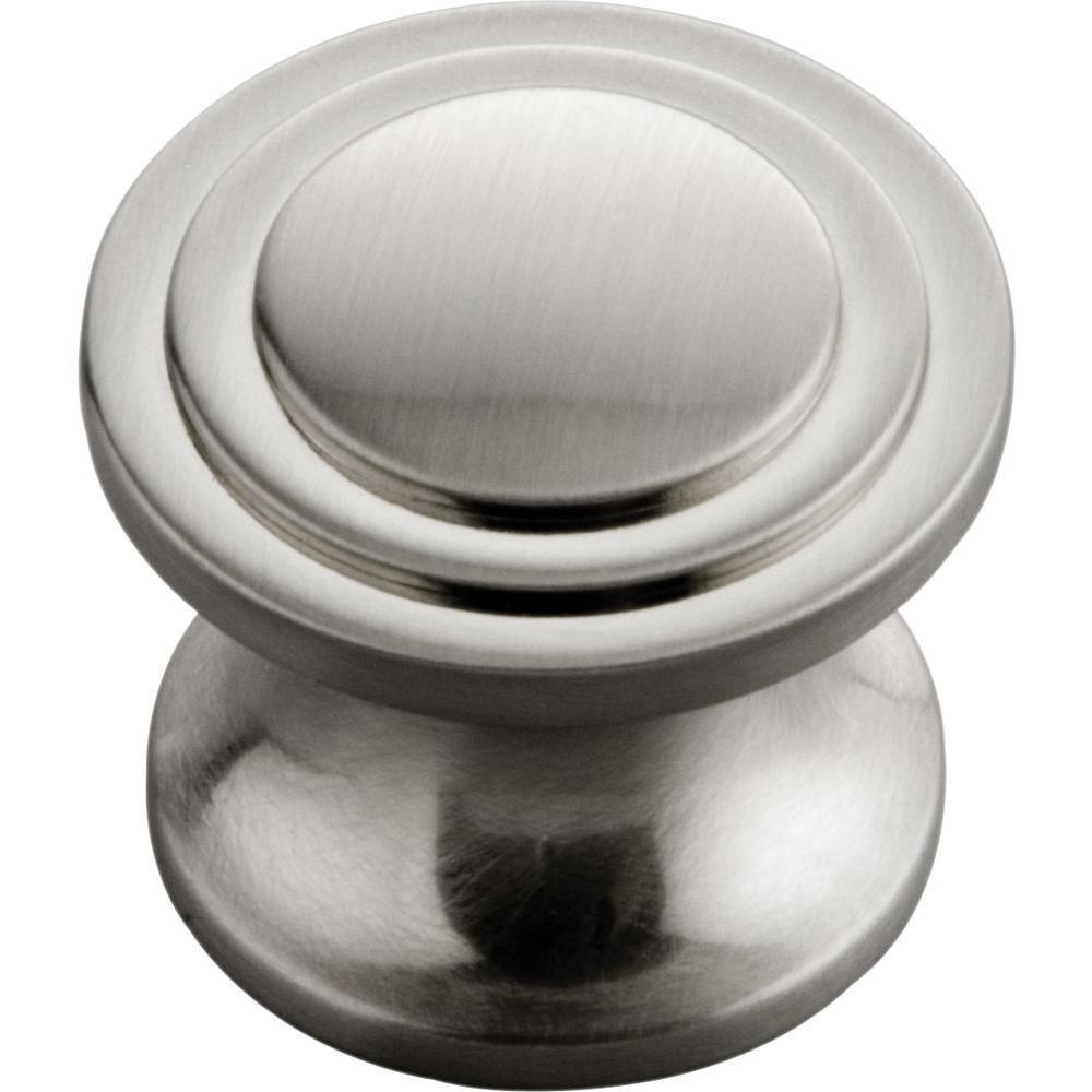 Hickory Hardware Decco 1 in. Satin Nickel Cabinet Knob