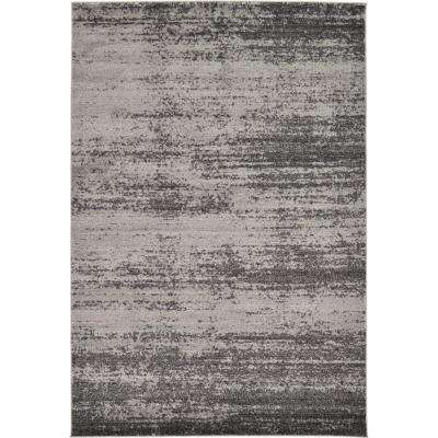 Modern Del Mar Dark Gray 6 ft. x 9 ft. Area Rug