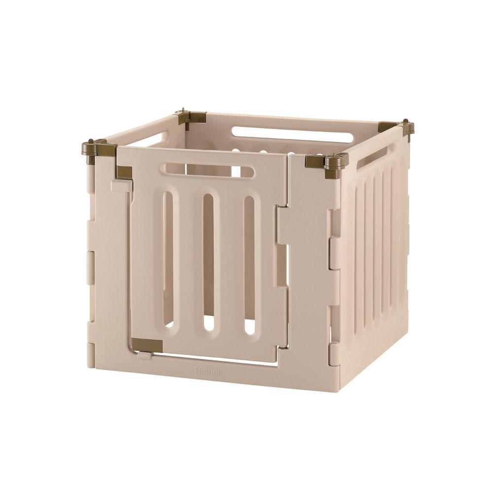 Richell Medium 4-Panel Plastic Convertible Indoor/Outdoor Pet Playpen by Richell