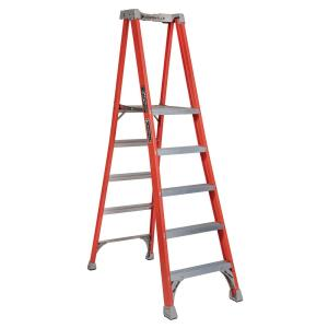 Louisville Ladder 5 ft. Fiberglass Pinnacle Platform Ladder with 300 lbs. Load... by Louisville Ladder