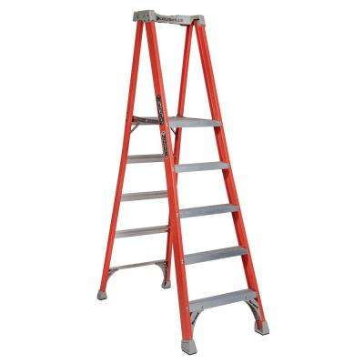 5 ft. Fiberglass Pinnacle Platform Ladder with 300 lbs. Load Capacity Type IA Duty Rating