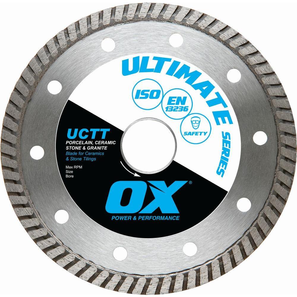 OX Ultimate Porcelain Fine Turbo 7/8 in. - 5/8 in. Bore 8 in. Diamond Blade