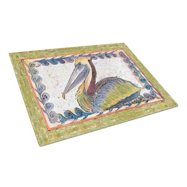 Caroline's Treasures Pelican Tempered Glass Large Cutting Board 8057LCB