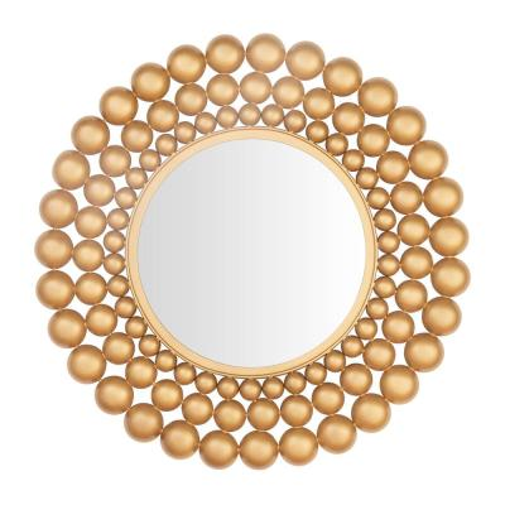Medium Round Gold Bubble Glam Accent Mirror (27 in. Diameter)