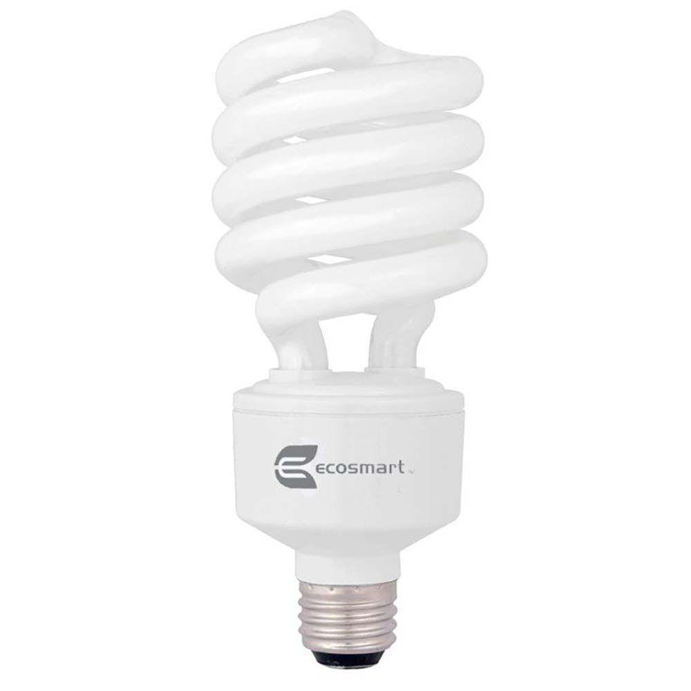 EcoSmart 150W Equivalent Soft White Spiral 3-Way CFL Light Bulb
